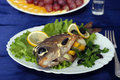 Free Second Course - Trout Shashlik Stock Image - 2106541