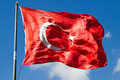 Free Turkish Big Flag Stock Photo - 21005530