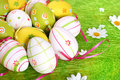 Free Closeup Of Several Easter Eggs Royalty Free Stock Images - 2138849