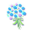 Free Flower Bouquet With Bow Stock Images - 2167114