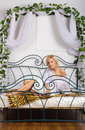 Free Lovely Girl On The Bed Stock Photo - 22132490