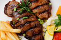 Free Grilled Steak And Vegetables Stock Photo - 22454690