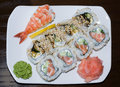 Free Sushi On A Plate Japan Cuisine Stock Photo - 2278950