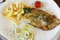 Free Fried Hake Fish And Chips Stock Image - 23078291