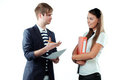 Free Young Man Explaining Something To Young Woman Stock Photo - 23387480