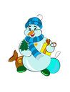 Free Attractive Isolated Snowman Stock Photography - 24038802