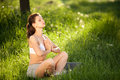 Free Yoga Outdoors. Royalty Free Stock Images - 24201419