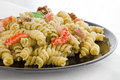 Free Pasta With Pesto And Parmesan Cheese Royalty Free Stock Images - 24506199