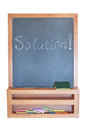 Free Solution-writing On The Blackboard With Chalk. Royalty Free Stock Images - 24685809