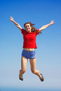Free Jumping In The Sky Royalty Free Stock Image - 24919366