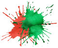 Free Red And Green Blots Of Watercolor Paint Stock Images - 24930604