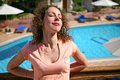 Free Girl Has A Rest At Pool Royalty Free Stock Image - 2520416