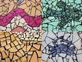 Free Collage Of Pieces Of Tile Mosaic Royalty Free Stock Photo - 25207265