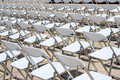 Free Array Of White Chairs Royalty Free Stock Images - 2531949