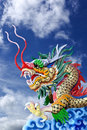 Free Golden Dragon Statue In  Blue Sky Stock Images - 25383144