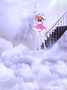 Free Girl On The Clouds Royalty Free Stock Images - 25531299