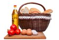 Free Set Of Bakery Products On White Royalty Free Stock Photography - 25589237