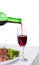 Free A Delicious Steak With Red Wine Stock Photo - 25589260