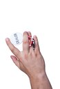 Free The Hand With The Dealer Button And Chips Royalty Free Stock Photos - 25589318