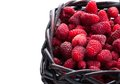 Free Raspberry In Wood Basket Royalty Free Stock Images - 25589349