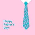 Free Tie And The Sentence Happy Fathers Day Stock Images - 25608864