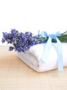 Free Lavender And Towel Royalty Free Stock Photos - 25682008