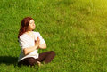 Free Yoga Practice  In The Outdoors Royalty Free Stock Photo - 25716995