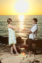 Free Couple In Love On The Lake Stock Photography - 25750432
