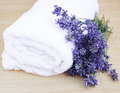 Free Lavender And Towel Stock Photo - 25760310