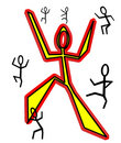 Free Happy Dancing Stick Figures Stock Image - 2623431