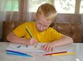 Free Young Boy Drawing Royalty Free Stock Photography - 26226477