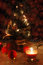Free Christmas Tree With Lights And Candles Over Black Royalty Free Stock Images - 26366769
