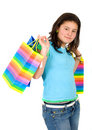 Free Girl With Shopping Bags Stock Photo - 2648680