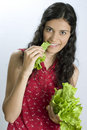 Free Girl With Lettuce Royalty Free Stock Photo - 2660585