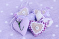 Free Decorative Lavender Hearts On Lavender Background Royalty Free Stock Photography - 26647147
