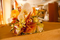 Free Bride And Groom Table With Bride&x27;s Bouquet Stock Photo - 26769790