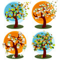 Free Money Tree And Tree With Autumn Leaves Royalty Free Stock Images - 26985129