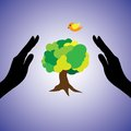 Free Illustration Of Saving The Nature And Environment Royalty Free Stock Image - 27054516