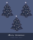 Free Set Of Stylized Fir Trees. Royalty Free Stock Photos - 27186818