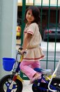Free Little Girl And Bicycle Stock Images - 2744684