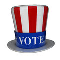 Free Vote Uncle Sam Hat Royalty Free Stock Images - 27909949