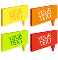 Free Speech Bubbles Colorful Set Stock Image - 27935331