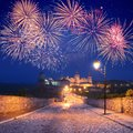 Free Fireworks Over The Castle Royalty Free Stock Photos - 27959158