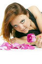 Free Girl With Rose Petals And Stock Photography - 27959962