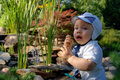 Free Baby Infant In The Garden Royalty Free Stock Images - 2840909