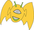 Free Smiling Alien Flying Royalty Free Stock Photography - 28552797
