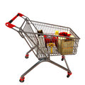 Free Metal Cart With Gifts Stock Images - 28566724