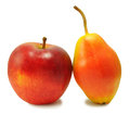 Free Yellow Pear And Red Apple Stock Images - 28576914