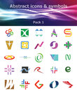 Free Abstract Icons & Symbols Pack 1 Royalty Free Stock Photos - 28585048