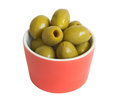 Free Olives In Red Bowl Royalty Free Stock Photo - 28605565